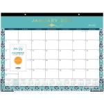 Blue Sky Sullana Design Calendar Desk Pad Julian Dates Monthly 1 Year January 2021 Till December 2021 Desk Pad Teal 17 Height X 22 Width