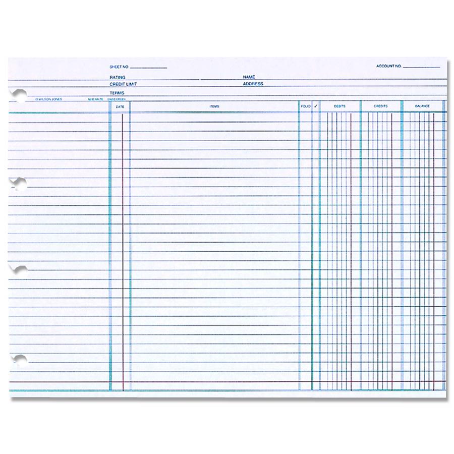 Wilson Jones Ledger Paper Balance Ledger 7 1 2 X 10 3 8 White 100 Sheets