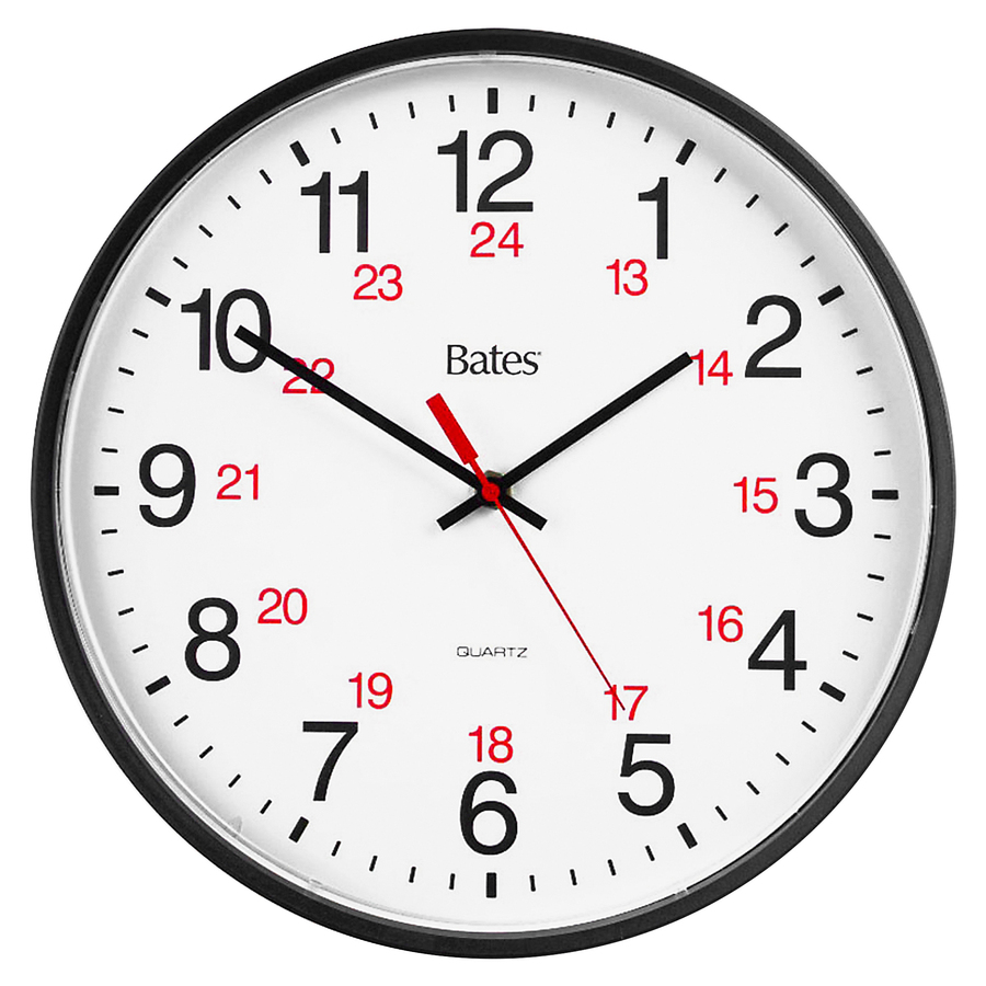 Gbc Bates 12 24 Quartz Wall Clock Gbc