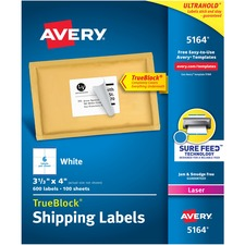 Avery Trueblock R Shipping Labels Sure Feed Tm