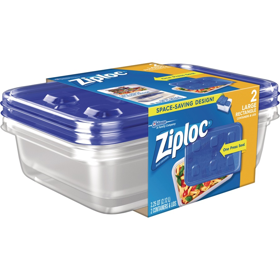 ziploc storage containers 2 3 quart food container lid plastic dishwasher safe microwave safe clear 2 piece s pack