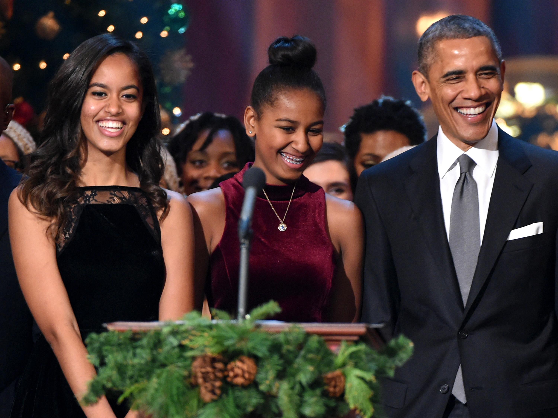 Obama girls 2014