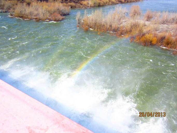 радуга над плотиной