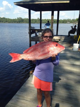katlyn with red snapper