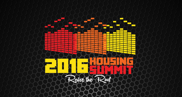 Housing Summit logo with black background