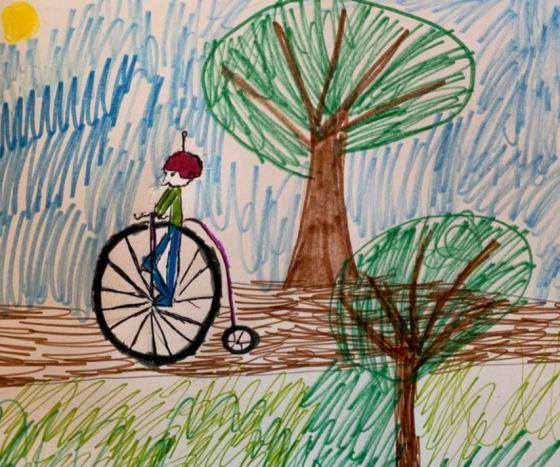 Art drawing bike safety