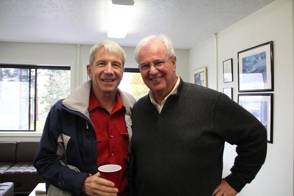 Celebrating a new veterans center with Congressman Schrader