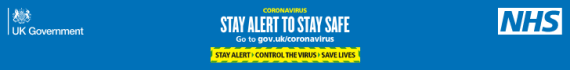 Stay alert, control the virus, save lives government web banner