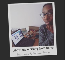 Librarians working from home