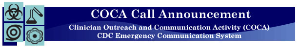 COCA Call Announcement banner