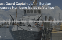 Coast Guard Captain JoAnn Burdian discusses Hurricane Isaias safety tips