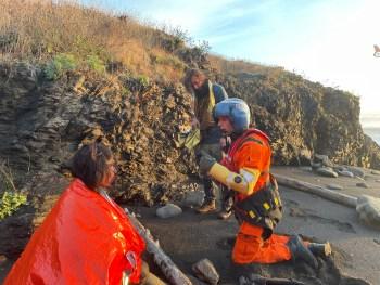 Coast Guard rescues 4 people near Lost Coast Hiking Trail
