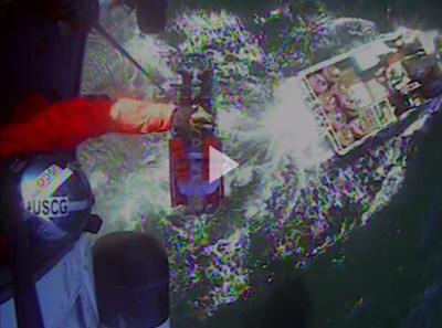 Coast Guard medevacs fisherman 25 miles off Tillamook Bay, OR