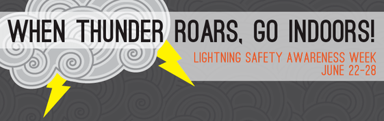 When Thunder Roars, Go Indoors Lightning Awareness Week June 22-28,2014