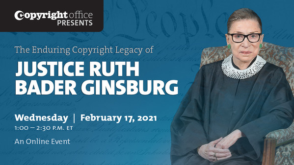 Ruth Bader Ginsburg event poster