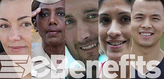 eBenefits collage, faces of veterans