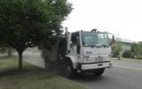 street sweeping truck