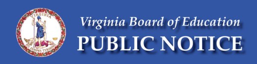 Board of Education Public Notice