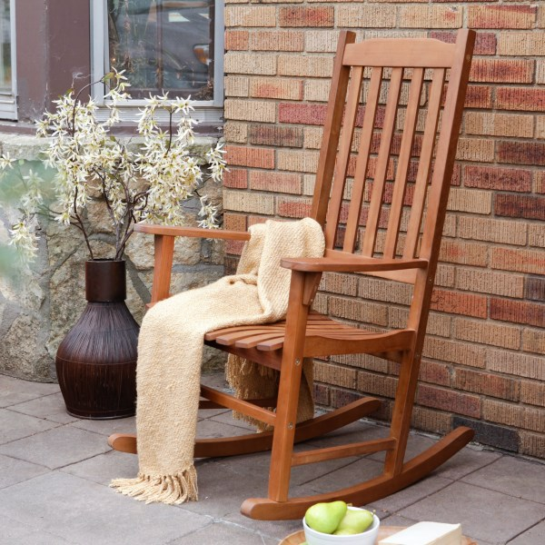 Coral Coast Indoor Outdoor Mission Slat Rocking Chair   Natural     Coral Coast Indoor Outdoor Mission Slat Rocking Chair   Natural   Hayneedle
