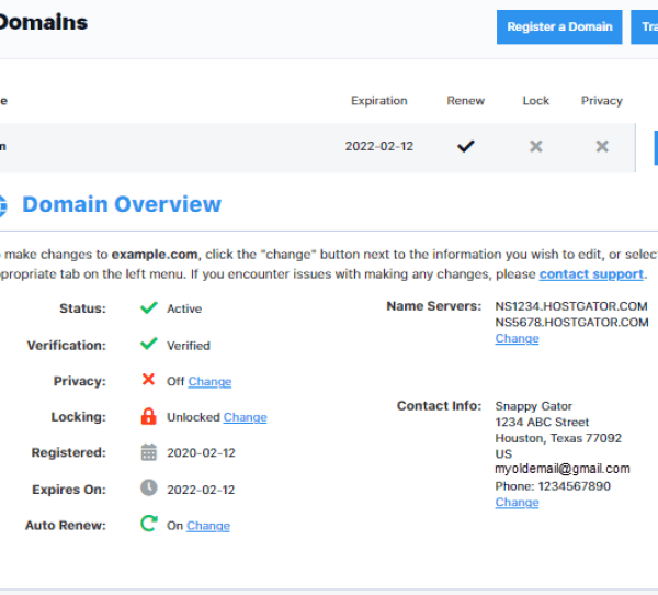 Connect Hostgator Domain with Wix - Domains Overview