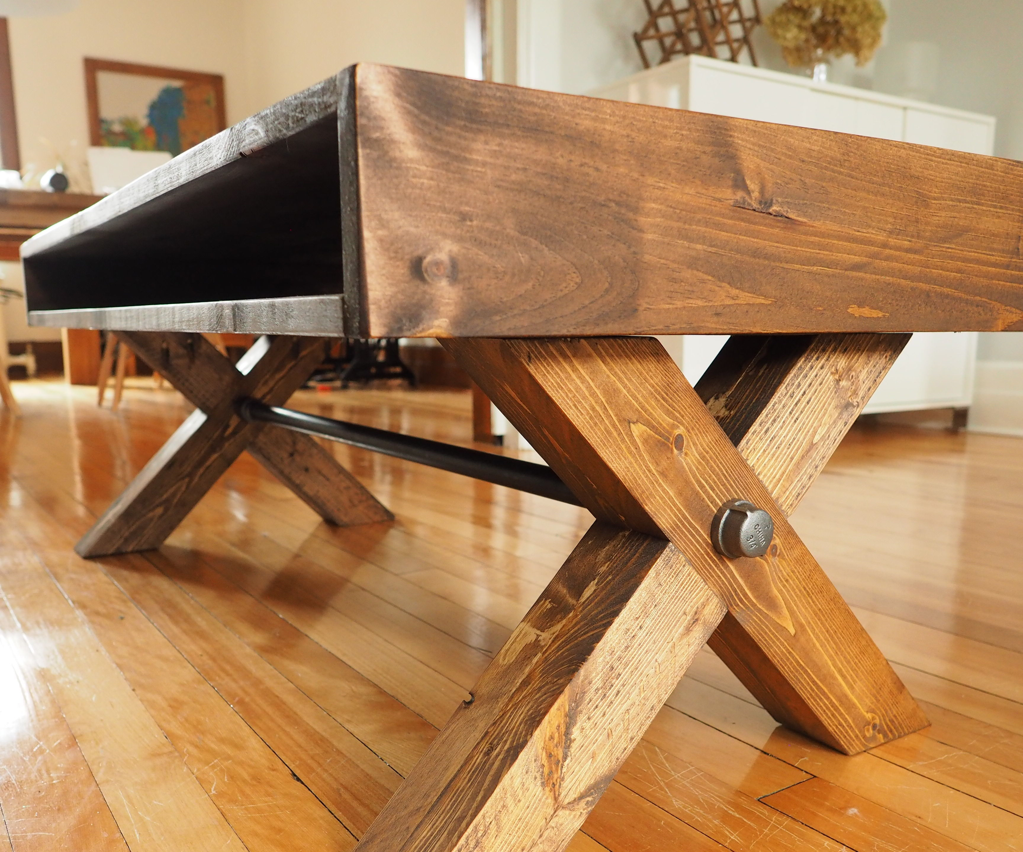 x leg coffee table 9 steps with