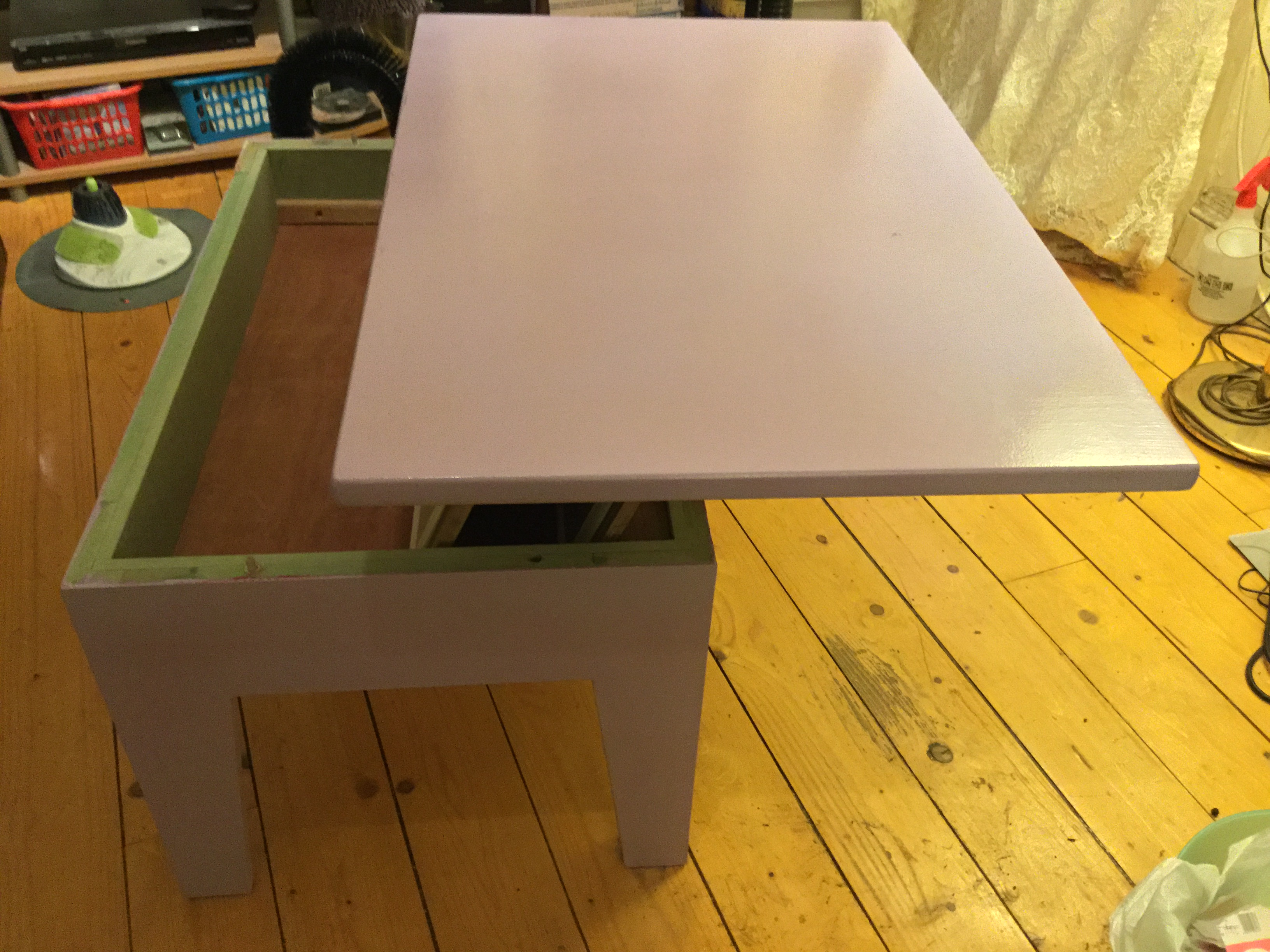 cantilever coffee table 3 steps with