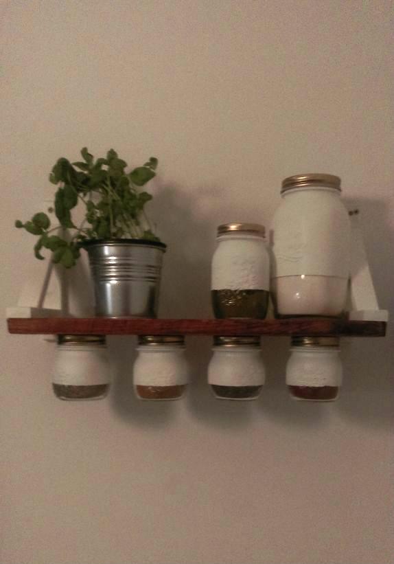 mason jar spice rack 3 steps with