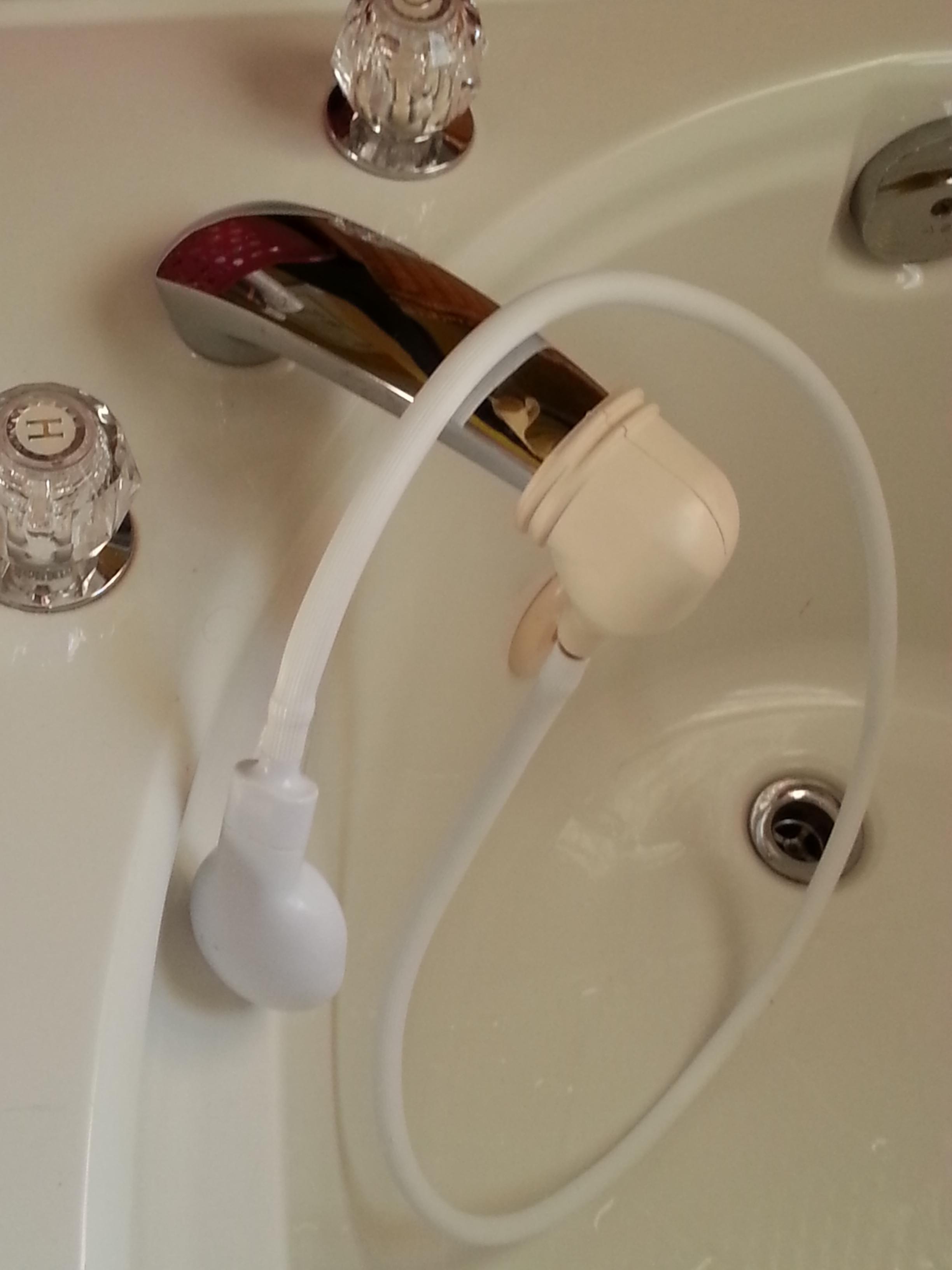 hand shower for roman tub 3 steps