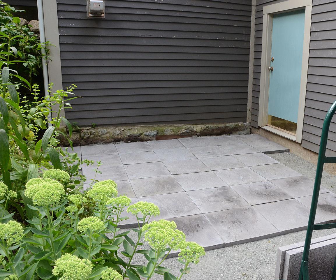 diy stone paver patio tutorial