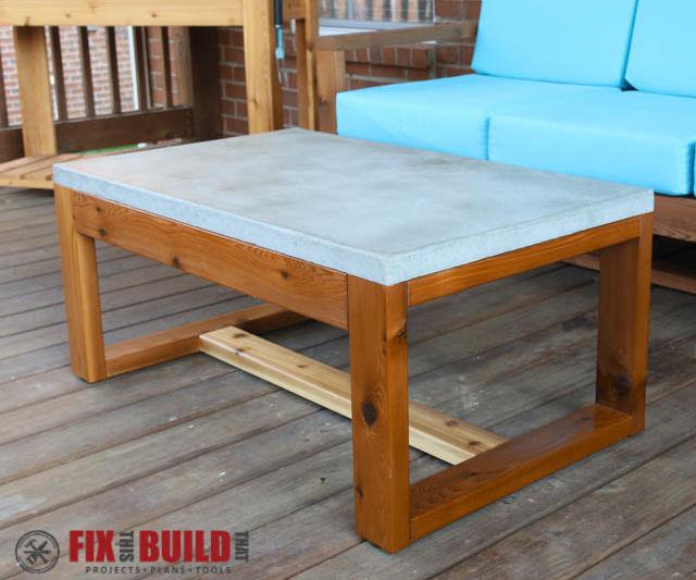 diy concrete top coffee table 6 steps