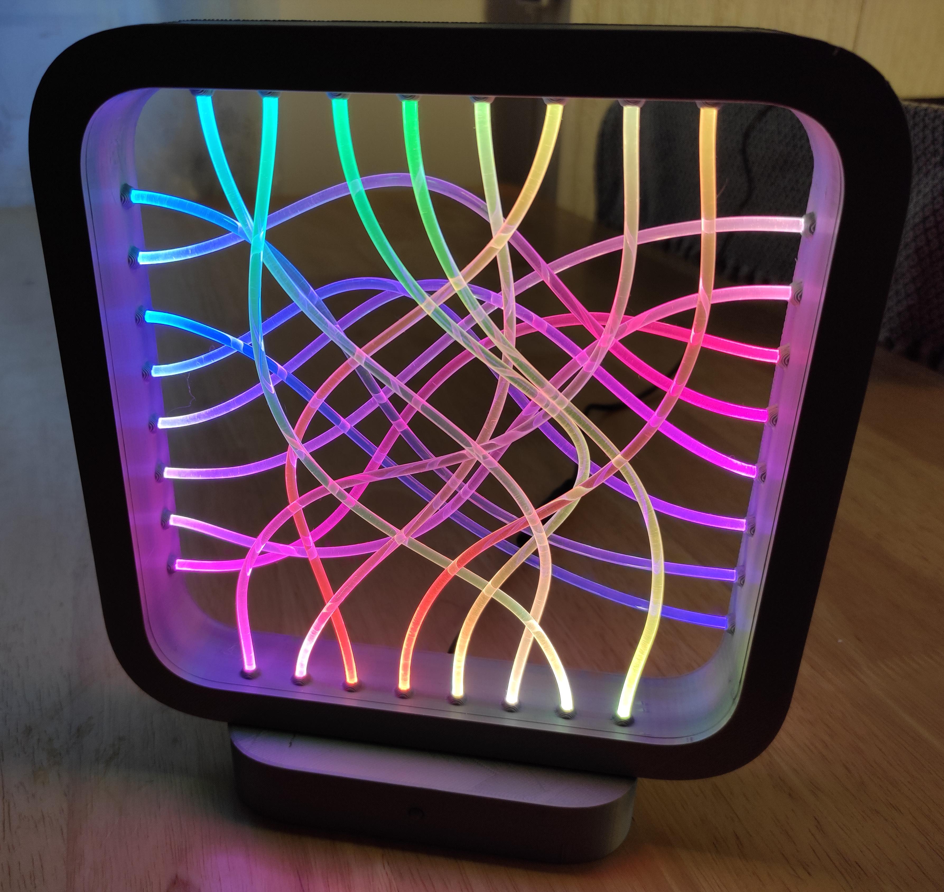 fiber optic led lamp 6 steps with