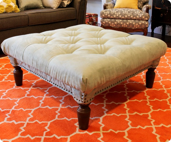 diy diamond tufted ottoman 10 steps