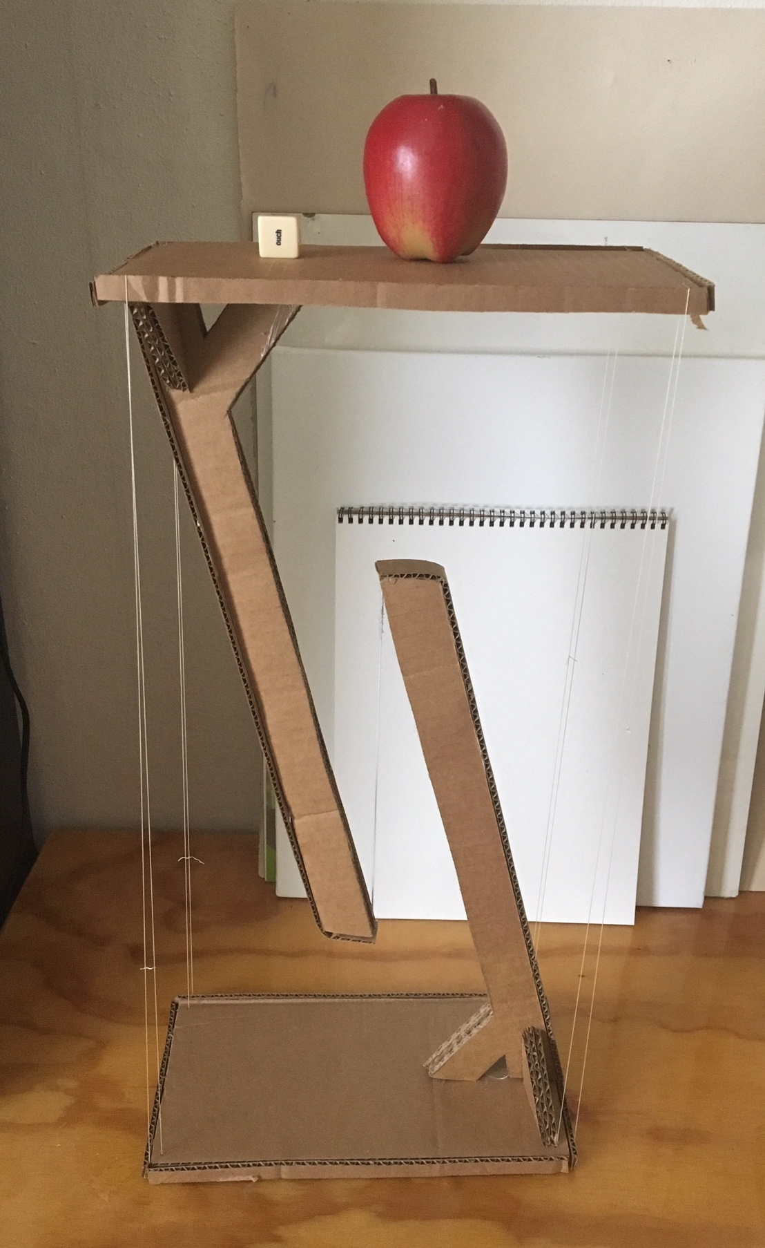 levitating side table made from old