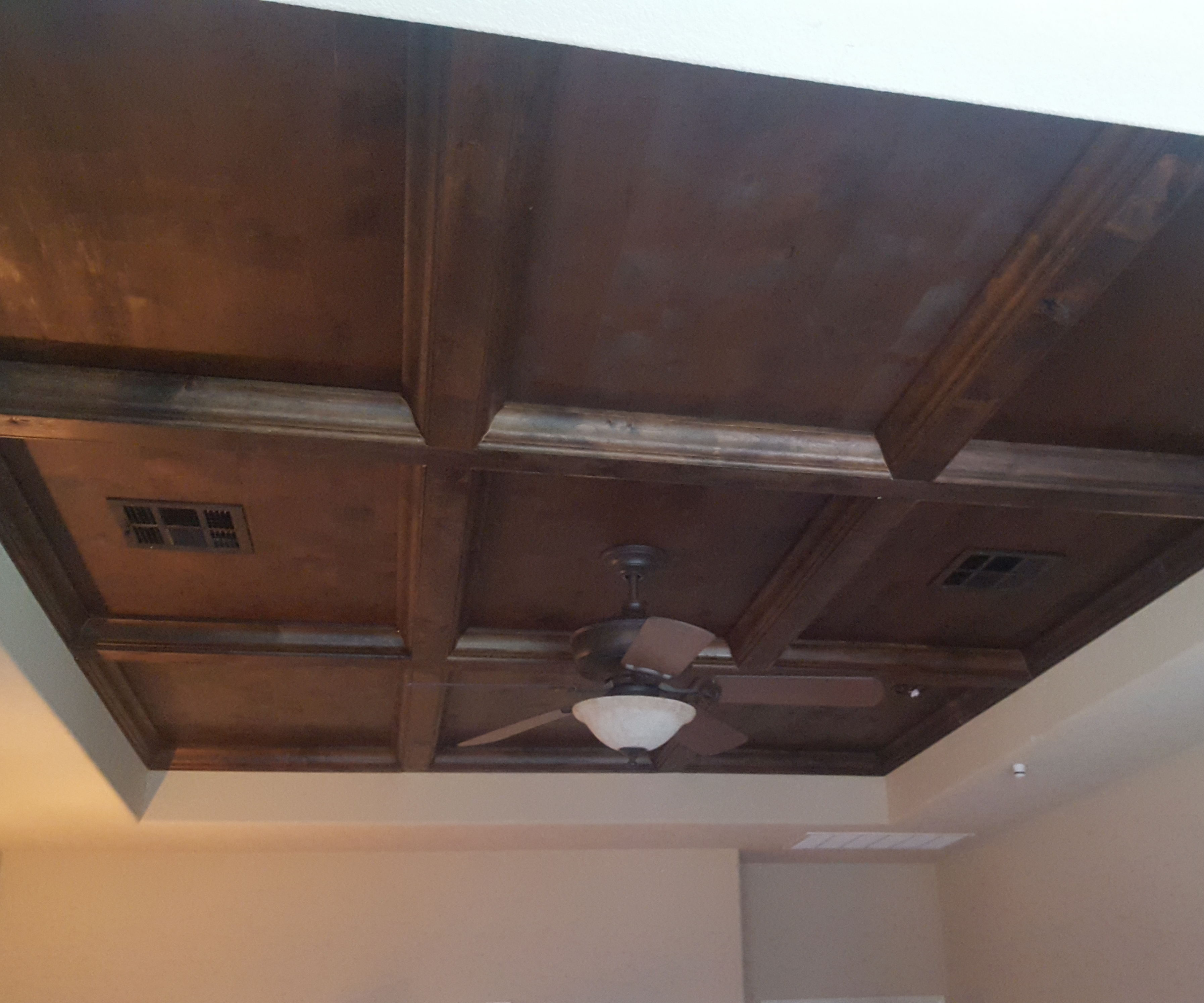 looking coffered ceiling
