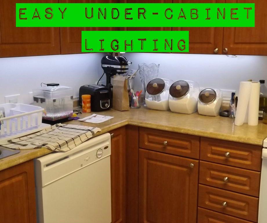 easy under cabinet lighting 4 steps