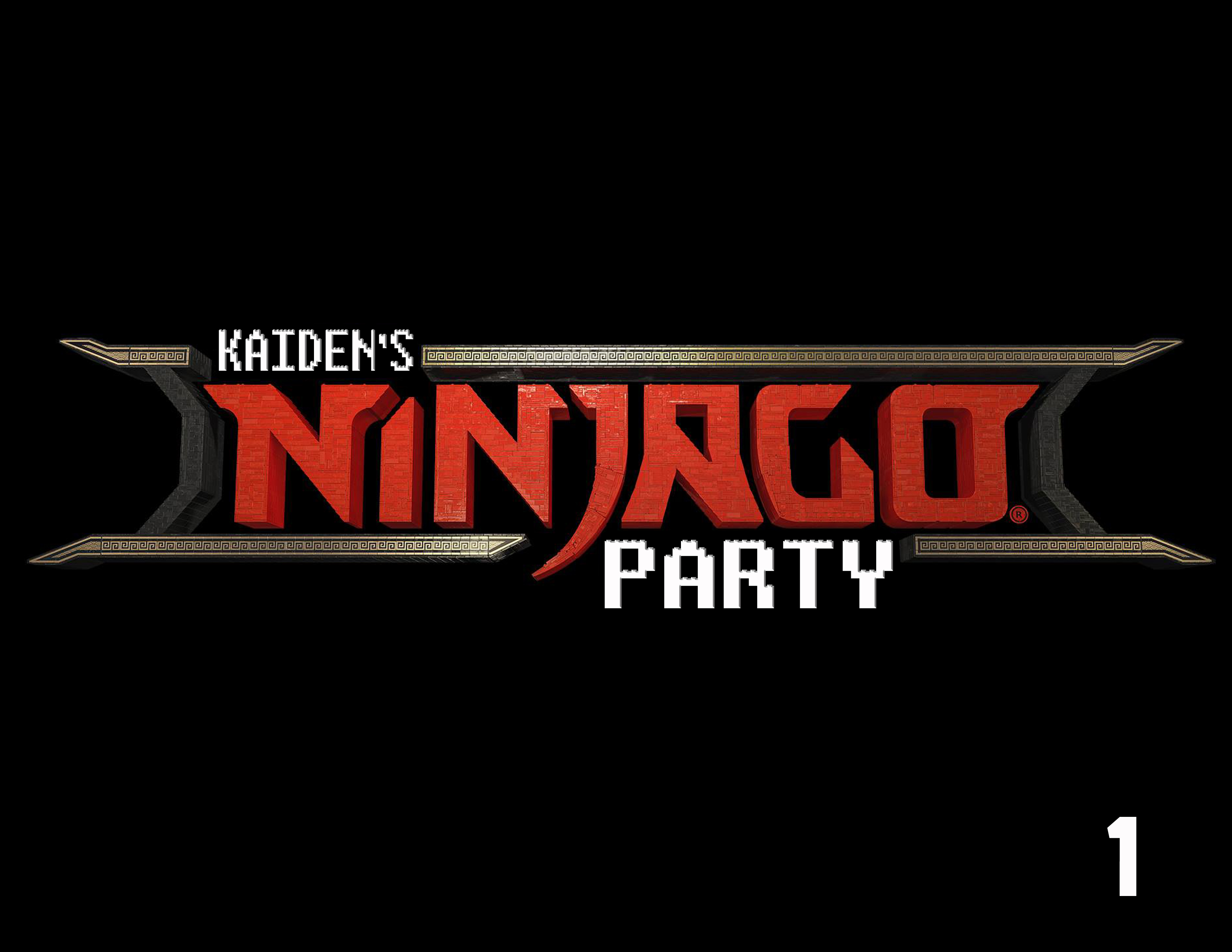 lego ninjago theme birthday party 16