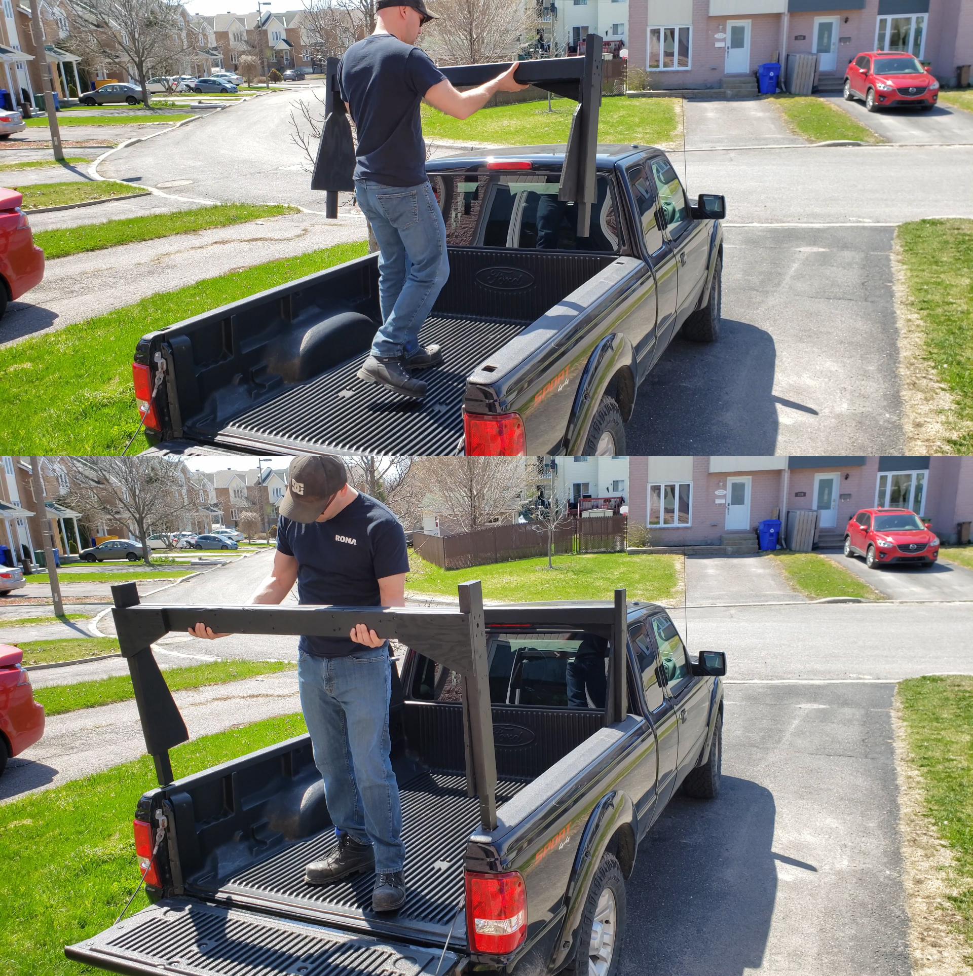 2x4s truck rack 10 steps with
