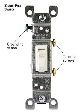 how can i wire a standard light switch to an extension cord