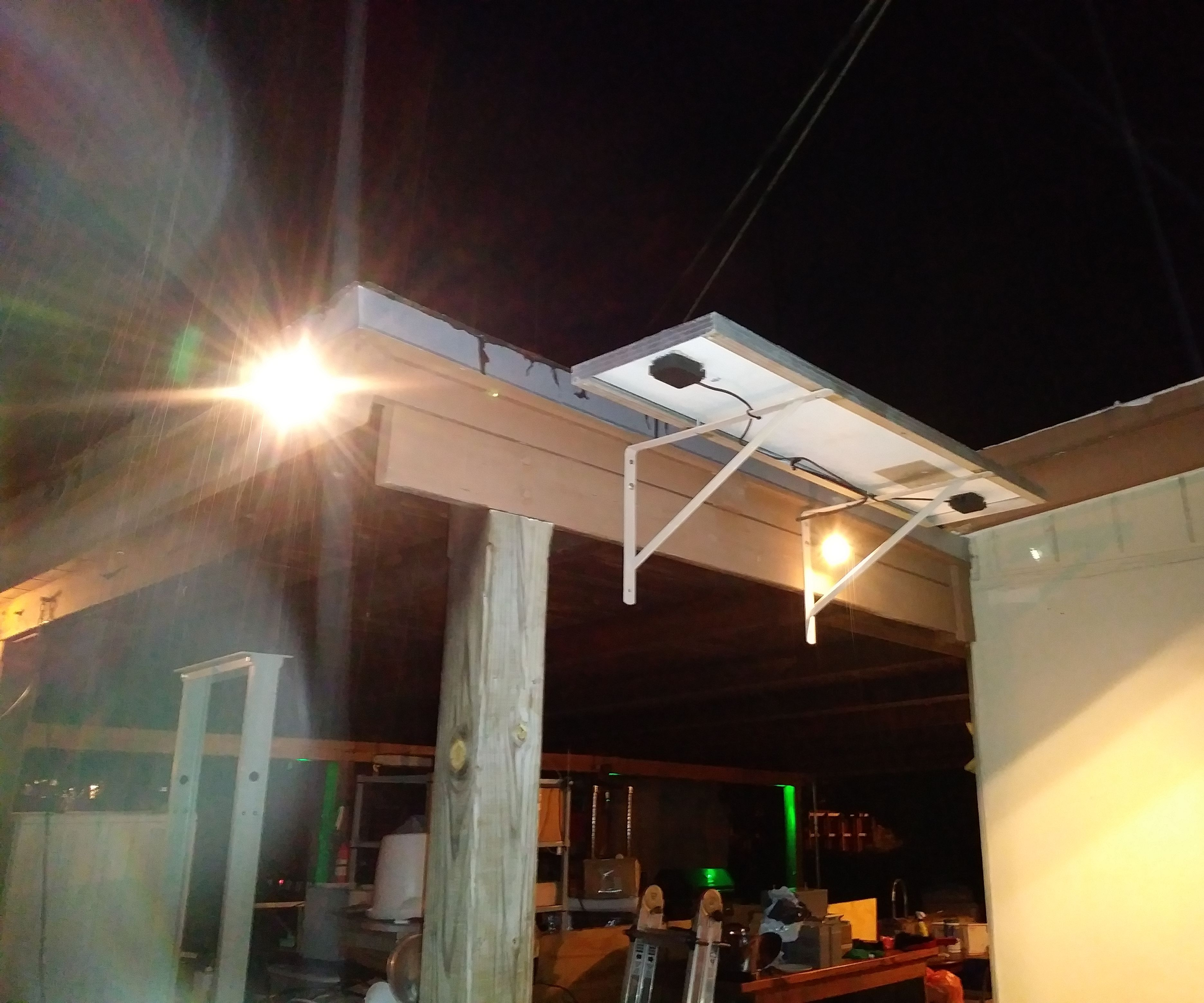 solar powered led yard lighting made