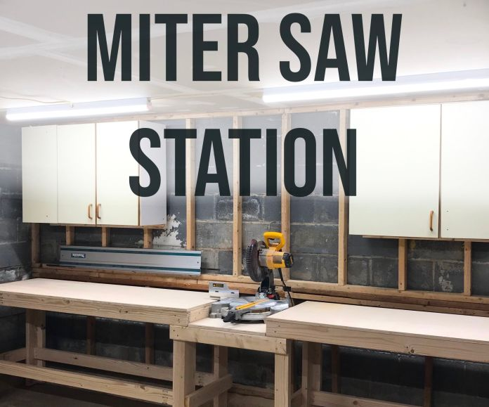 Quick Easy Diy Miter Saw Station 8 Steps With Pictures Instructables