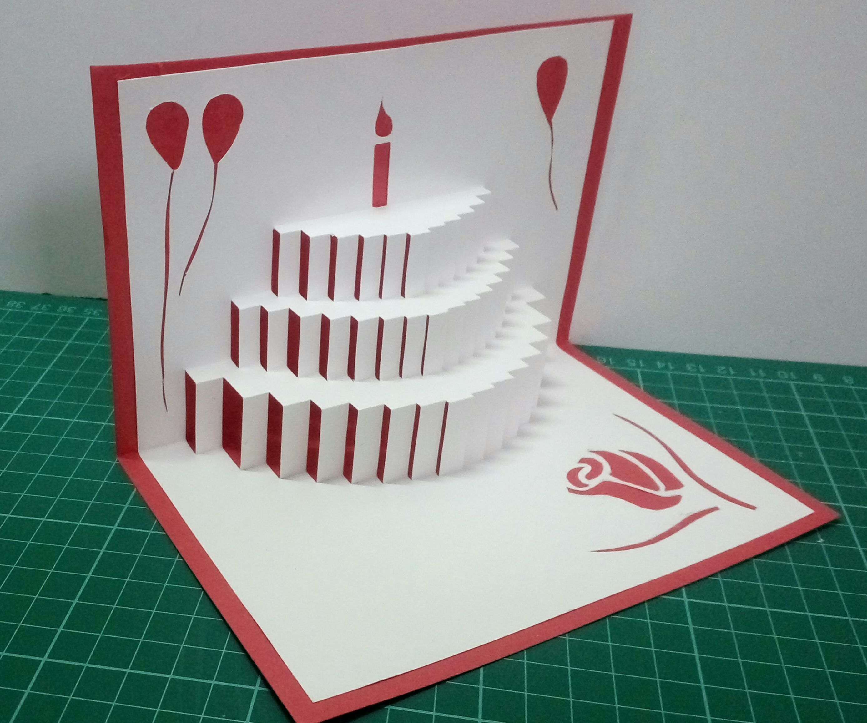 Popup Birthday Card 5 Steps With Pictures Instructables
