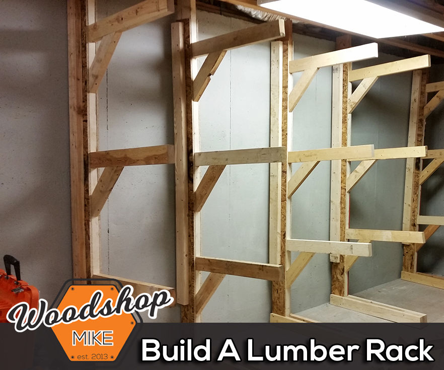 free standing lumber rack 4 steps