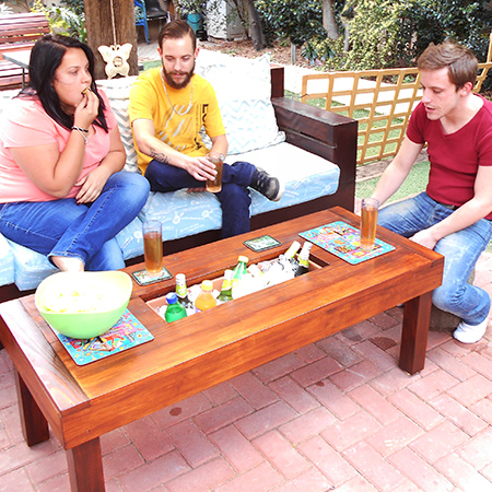 outdoor table with ice box cooler 3