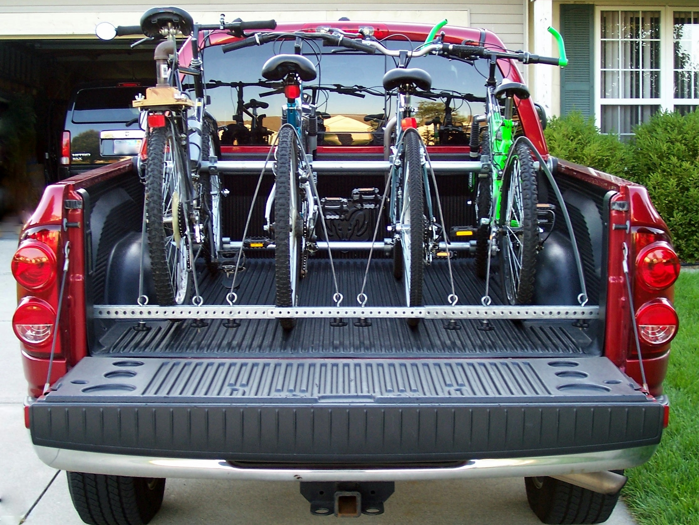 truck bed bike rack 13 steps with