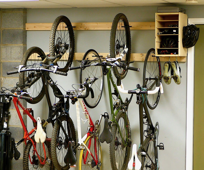 diy bike rack for 20 bike storage
