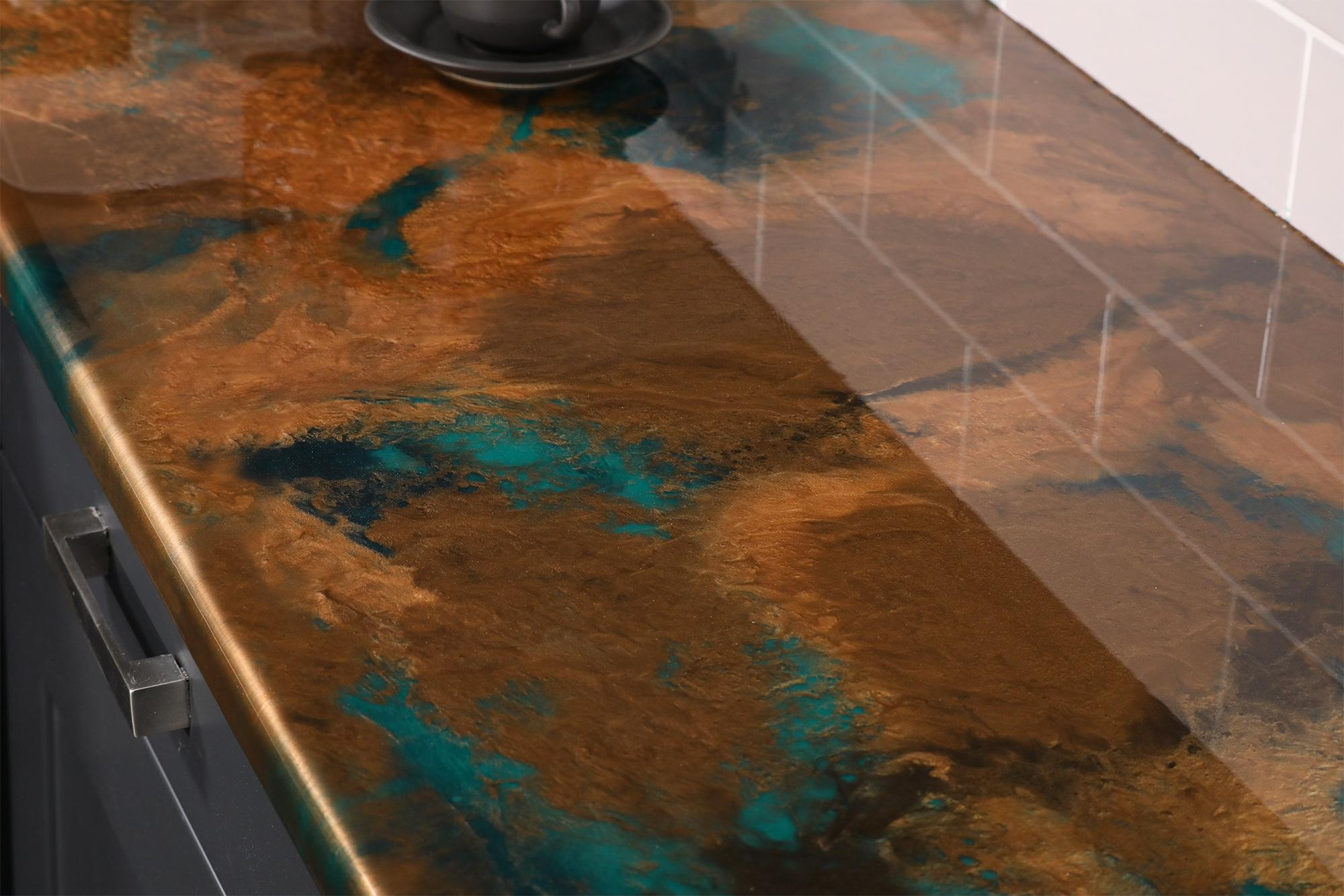 diy resin countertops using clear epoxy