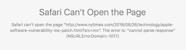 """cannot parse response"" (NSURLErrorDomain:-1017)"