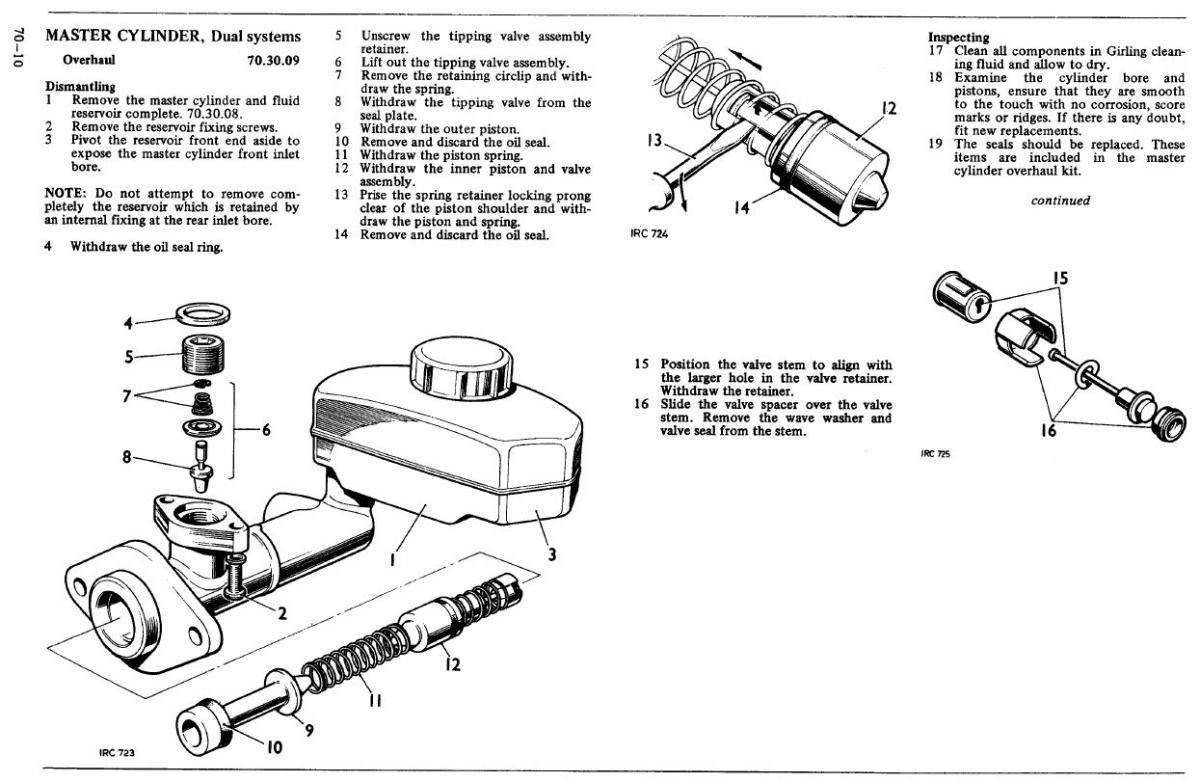 Lwb Brake Master Cylinder Expert Help Please