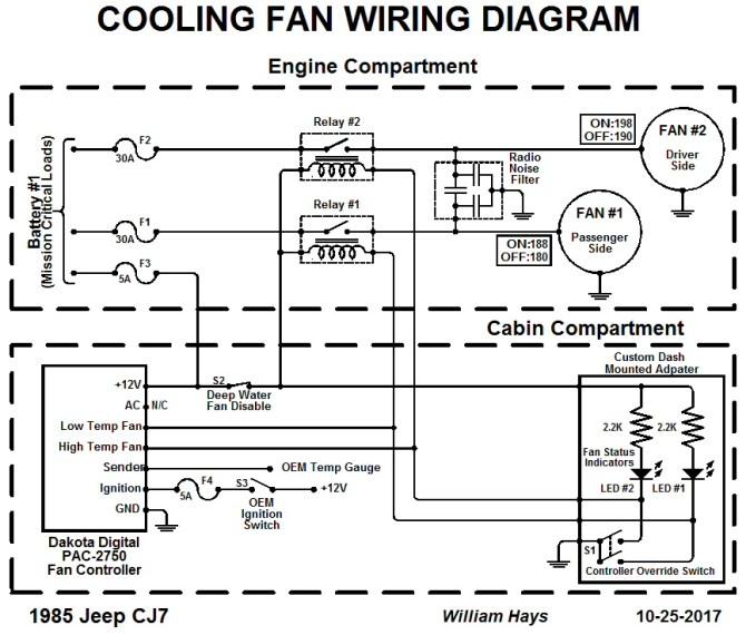 electric fan controller for cj7 with mopar mfi kit  197286