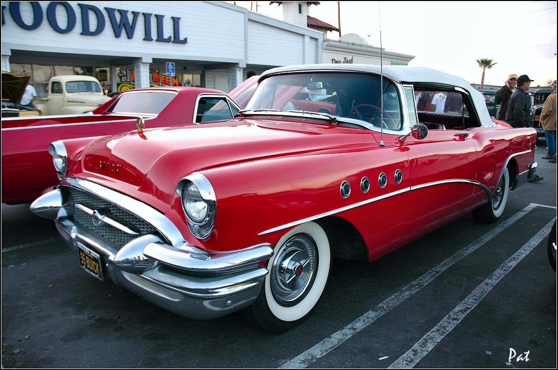 1955 Buick Roadmaster Convertible Red Fvl General Motors